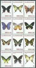 Timbres Papillons Surinam 1748/57 PA120/1 ** année 2005 (37702) - cote : 67 €