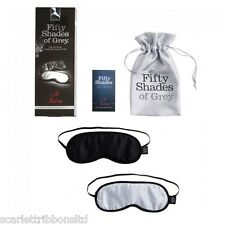 FIFTY 50 SHADES of GREY NO PEEKING SOFT TWIN BLINDFOLD KIT OFFICIAL DISCREET P&P