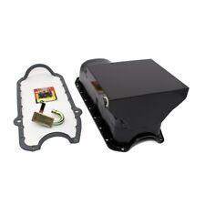 Chevy 58-79 350 400 SBC Black Drag Style 7qt. Oil Pan / STD. Pickup Studs Gasket