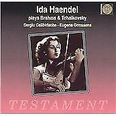 "CD TESTAMENT SBT 1038 ""Ida Haendel Plays Brhams & Tchaikovsky"" Violin Concerto D"