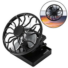 Portable Clip-On Solar Cell Fan Sun Power Energy Panel Cooling Summer Cooler New