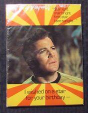 1976 STAR TREK Birthday Greeting Cards w/ Envelopes SEALED Lot of 5 Kirk Star
