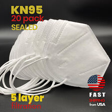 [20 PACK] KN95 SEALED Disposable Safety Face Mask CE Certified Protective Cover