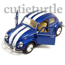 Kinsmart 1967 Classic VW Volkswagen Beetle Bug 1:32 Blue with White Stripes
