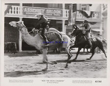 SAM PECKINPAH'S RIDE THE HIGH COUNTRY  TWO 1962 8X10S CAMEL VS HORSE RACE!