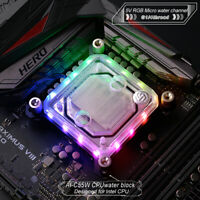 C55W CPU Water Cooling Block With 5V RGB For Intel LGA1150 1151 1155 1156 2011