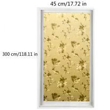 Static Cling 3D Window Films No Glue Floral Glass Sticker Opaque Home Wall Decor