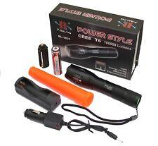 Swat T6 Taschenlampe Starke LED Polizei wiederaufladbar Zoom PowerAkku Ladegerät