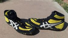 Asics Aggressor I Wrestling Shoes, College used. Size 13 J000Y Yellow Black