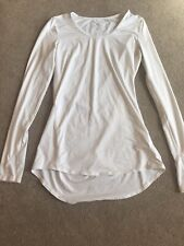 Athleta White Running Long Sleeve Shirt Size XS