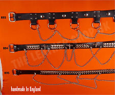 Bullet New Leather Gothic Punk Biker Metal SID UK Made Quality Waist Chain Belts