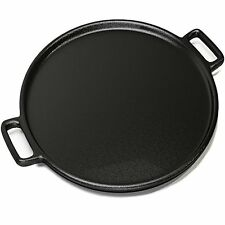 Home-Complete Bakeware Cast Iron Pizza Pan 13 Inch Evenly Bakes Heats Your Works