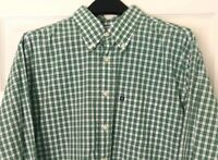 Brooks Brothers Men's XL SLIM FIT 346 Button Down Long Sleeve Check Green Shirt