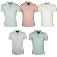 Mens Polo T Shirt French Connection Short Sleeve Cotton Pique Smart Casual Tops