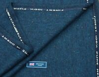 100/% PURE CASHMERE FABRIC GREEN//BLUISHGREY PUPPYTOOTH MADE IN ENGLAND 2.3METRES