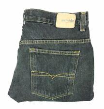 Anchor Blue mens size 34x32 baggy fit black denim jeans distressed  A76-6