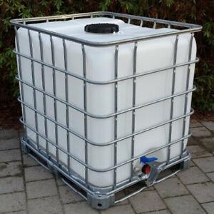 IBC Tank Regenwassertank 1000 Liter auf Stahl-/PE-Palette