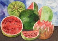Frida Kahlo Viva la vida Giclee Canvas Print Paintings Poster Reproduction Copy