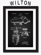 Wilton Vise Bullet Patent Print Art Paper