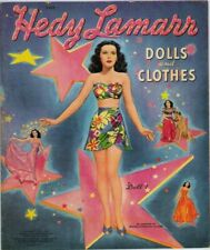 Vintage 1942 Hedy Lamarr Paper Dolls~Totally Uncut~#1 Reproduction~Beautiful Set