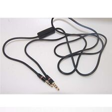 """3.5mm 1/8"""" Audio Cable AUX Cord w/ MIC For Audio-Technica ATH-ANC9 Headphone bx"""