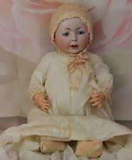 """Antique 1912 Swaine & Co. 232 Lori Character German Bisque Doll Compo Body 23"""""""