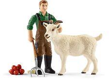Schleich 42375 Farm World - Bauer mit Ziege & Zubehör
