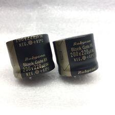 NOS pair Rubycon BLACK GATE Electrolytic Capacitors VK 220uF 200V for tube amp
