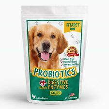 Fitapet Probiotics for Dogs with Sensitive Stomachs, Gas or Diarrhea.