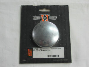 Vented Early Style Gas Cap for Harley, Right Side FatBob or Single Cap Tank