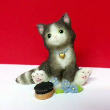 Miniature Calico Kittens Norwegian Mini Kitty Cat Figurine