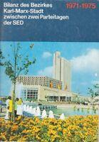 Bilanz Bezirkes Karl-Marx-Stadt zwischen zwei Parteitagen SED 1971-1975 DDR GDR
