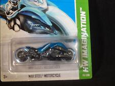 HW HOT WHEELS 2013 HW IMAGINATION #59/250 MAX STEEL MOTORCYCLE HOTWHEELS BLUE