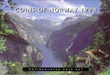 NORUEGA NORWAY 1998. CARTERA SET OFICIAL 5 MONEDAS - BU UNC