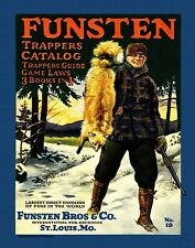 Trapping Vintage Magazine Poster Art  Antique Traps Supplies Catalog Furs MAG49