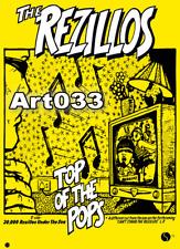 "Rezillos Top of the Pops Repro POSTER 34"" x 24"""
