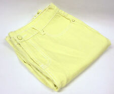 DG2 Boot Cut Stretch Denim Jeans Contrast Topstitching Yellow 6 Tall Inseam 32