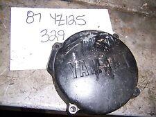 yamaha yz125 yz 125 left crank case engine generator cover 1987 flywheel 87 1986