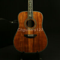 Handmade Full Koa Solid Supreme 41In Acoustic Guitar Real Abalone Inlay
