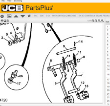 JCB Genuine Brake Pedal Left and Right Side Part No. 126/02790 and 126/02789