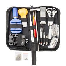144 piezas reloj reparación kit herramientas relojero caja abridor barra resorte