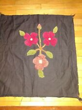 """18"""" Needle Hooked Handmade Wool floral,Throw for Pillow Cover, off point 16x16"""