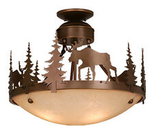Vaxcel Yellowstone Rustic Country Chandelier Moose Lodge Lighting CF55618BBZ