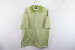 Paul & Shark Yachting Mens Large Italy Short Sleeve Pocket Golf Polo Shirt Green