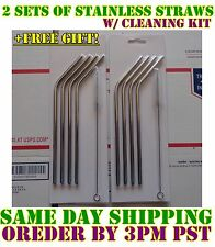 8x Stainless Steel Drinking Straws for YETI RTIC OZARK Rambler Tumbler 20 oz