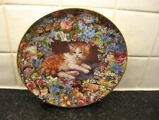 Victorian Cats Plate - Sweet Remembrance - Danbury Mint
