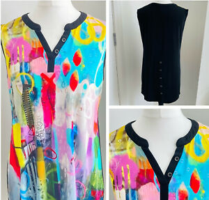 Simply Art by Dolcezza Tunic Top Dress Size XL Abstract Multi Coloured Designer