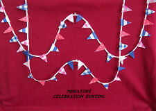 """DOLLS HOUSE - MINIATURE STRING OF """"JUBILEE"""" BUNTING (FLAGS)"""