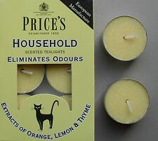 Household Scented Tealights removes pet odours, extract of orange lemon Prices