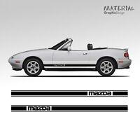 Mazda MX5 Mk1 Mk2  Side Stripes Decal Vinyl Graphic Style RX8 Roadster Eunos MX8